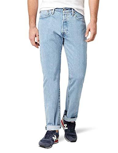 Levi's® 501® Jeans - Regular Straight Fit - Stonewash - Onewash - Marlon Wash - Black - Light Broken In, Größe:W 34 L 36;Wash:light broken in (00501-0113)