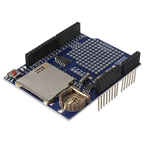 for Arduino - Products That Work with Official Arduino Boards Logging Recorder DataLog Shield Data Logger Module for UNO SD Card Extension Shield Module