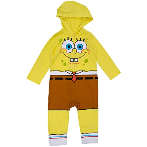 Nickelodeon Spongebob SqaurePants Toddler Boys Costume Coverall 2T Yellow/Brown