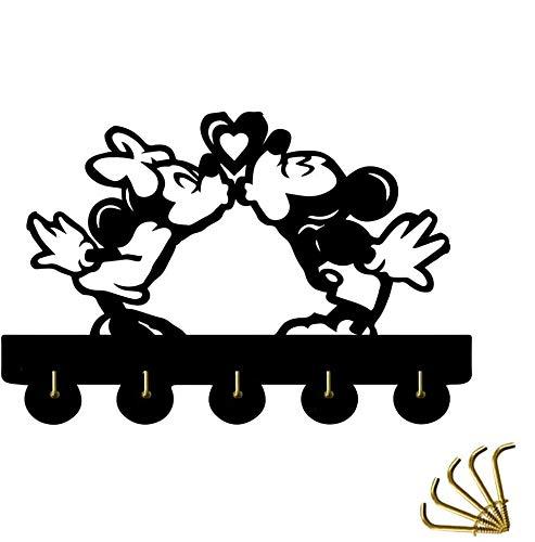 SQINAA decoración de la Pared Ganchos, hogar de la Historieta Linda decoración de la Puerta Ganchos de múltiples Funciones del Gancho de la Pared Soporte para Llaves, Carteras, Ropa Coat