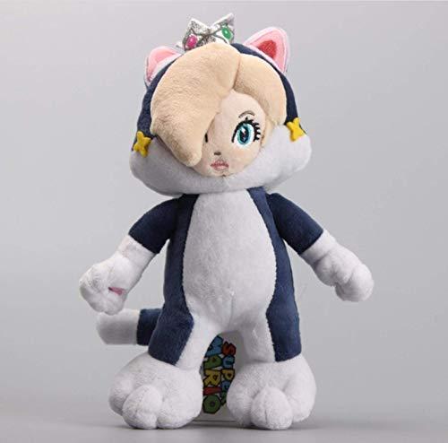 EREL Super Mario 3D World Princess Rosalina Blaue Katze Kröte Gelbe Katze Plüsch Weiche Spielzeug Gefüllte Puppen 23cm dedu