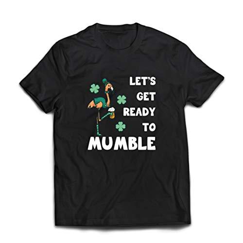 lepni.me Camisetas Hombre Preparémonos para murmurar el Divertido Flamenco de San Patricio (XXXXX-Large Negro Multicolor)