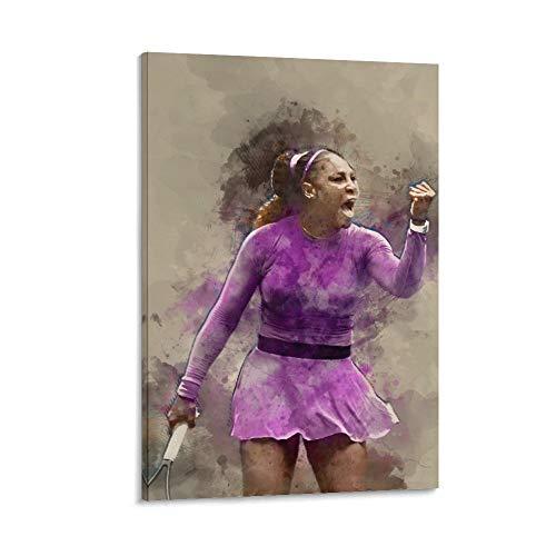 WODEWO Póster de tenis famoso jugador de tenis de Serena Williams, póster...
