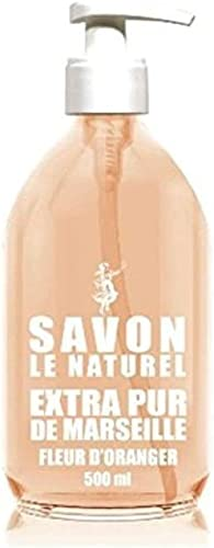 Savon Le Naturel - Extra Pur de Marseille à la Fleur d'Oranger - 500 ml