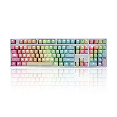 Conjunto de Llaves 1 Set Reemplazable PBT KeyCaps 87 104 108 Teclas de Letras Transparentes Tapa de la Llave de inyección para el Teclado mecánico Teclado keycaps (Color : C)