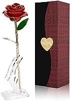 Gomyhom Rosa 24K Regali per Lei Fiore Rose Stabilizzata Idee Regalo per San Valentino, Anniversario, Festa della Donna,...