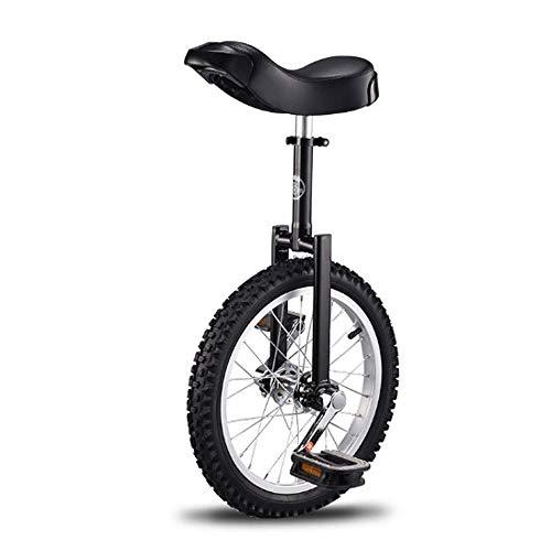 LQRYJDZ 16/18/20 Pulgadas Marco En Montaña Rueda de Bicicleta Monociclo Ciclismo Calle Bicicleta al Aire Libre con un cómodo Asiento de una Silla de Lanzamiento (Color : Black, Size : 20inch)