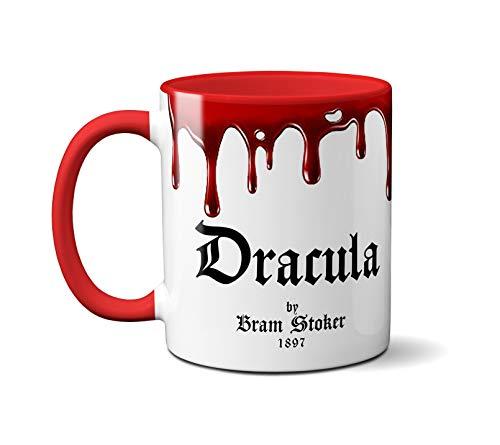 Dracula by Bram Stoker Mug. Coffee Mug with Dracula book design, Literature Mug, Book Mug, Bookish Mug, Book Lover Mug