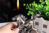 New Horse Shape Cigarette Cigar Ashtray Ash Tray Container with Refillable Lighter