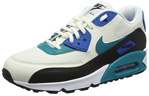 Nike Damen Wmns Air Max 90 Sneakers, Weiß (Sail/Radiant Emerald/Nero/Blu 134), 38 EU