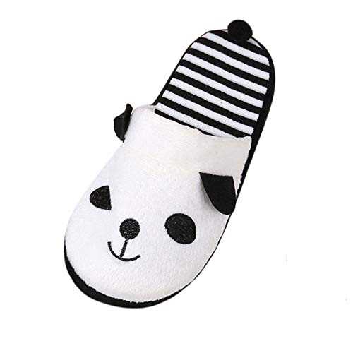 Baumwolle Pantoffeln Damen,Frauen Indoor Hausschuhe Winter Waschbar Schöne Cartoon Panda Coral Velvet Weiche Damen Männer Slipper Boden Rutschfeste Baumwolle Weiß Slides Flops Für Schlafzimmer Ho