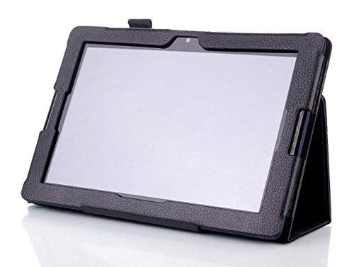 Schutzhülle für Lenovo IdeaTab A10-70 10.1 Zoll Smart Slim Hülle Book Cover Stand Flip A7600-H F L (Schwarz)