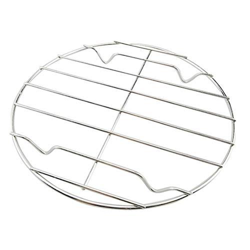 BESTonZON Edelstahl Grillrost Rund Abkühlgitter Backgitter Kuchengitter zum Keksen Braten Kuchen Räuchern Grillen Auskühlen 25cm