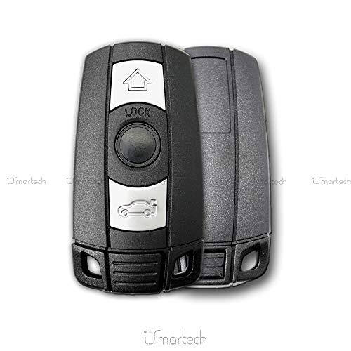 1neiSmartech Scocca Guscio E Lama Estraibile Chiave Telecomando 3 Tasti Per Auto Bmw Serie 1 3 5 6 7 X5 X6 Z4 Shell Case Key