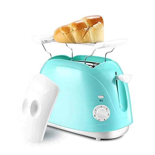 SCKMBJ Tostadora de 2 rebanadas con panecillo, cancelación, función de descongelación y 6 configuraciones de sombreado de pan Tostadora de pan, ranura extra ancha y bandeja de migas extraíble Tostador