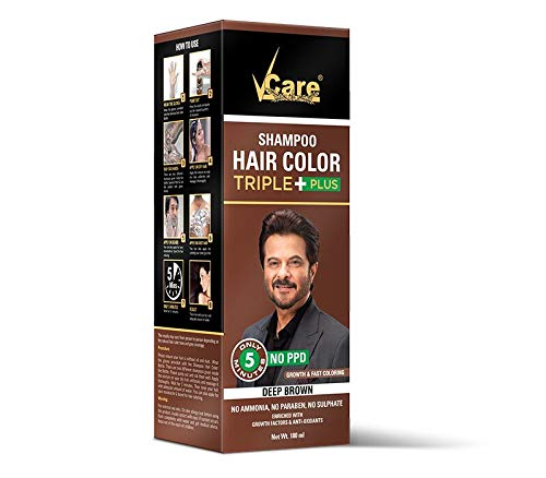 VCare Shampoo Hair Color (Brown)
