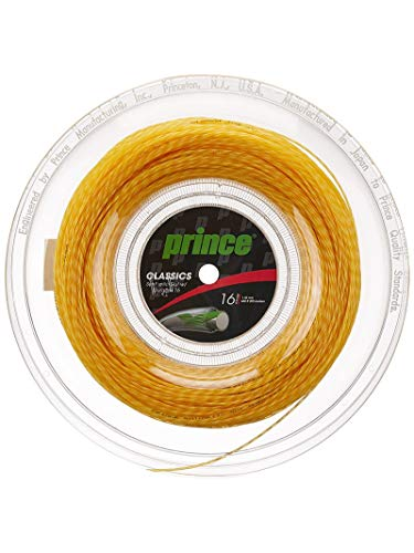 Prince Synthetic Gut - Tennis String Reel - Gold - 16 ga - 660 feet