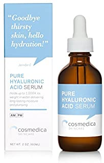 Hyaluronic Acid Serum for Skin- 100% Pure-Highest Quality Anti-Aging Serum- Intense Hydration + Moisture Non-Greasy Paraben-Free-Best Hyaluronic Acid for Your Face (Pro Formula) 2 oz