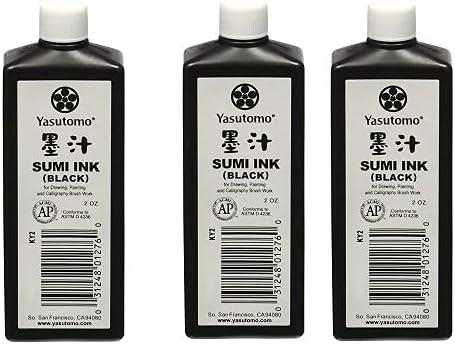 Yasutomo Sumi Ink 2oz Тhrее Bargain Расk At the price Black