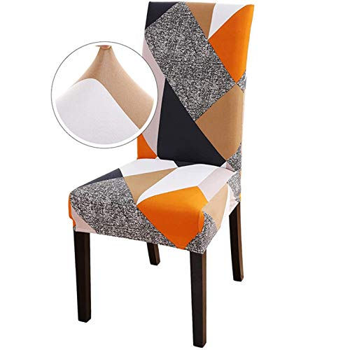 PLDYJ Stuhlabdeckung Moderne Esszimmerstuhl Cover Spandex Stretchstuhlabdeckung Esszimmer Stuhlabdeckung Stretch Chair Cover Hotel Bankett (Color : Mofang, Specification : 6pcs)