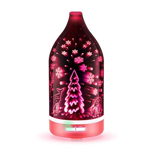 LIUCHANG Verbesserte Diffusoren for ätherische Öle Aromatherapie Diffusor Kühle Nebelbefeuchter mit 7 Farbe LED leuchtet wasserloses Auto-Off Perfekt for Geschenke A liuchang20 (Color : C)