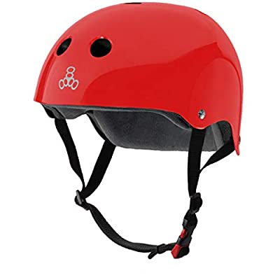 Triple Eight The Certified Sweatsaver Helmet for Skateboarding, BMX, and Roller Skating, Red Glossy, Large/X-Large, 3629
