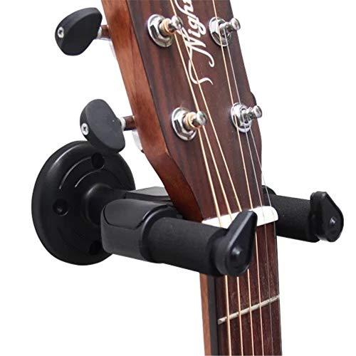 Soporte de guitarra para guitarra acústica y eléctrica, soporte de pared para guitarra giratorio con bloqueo de seguridad
