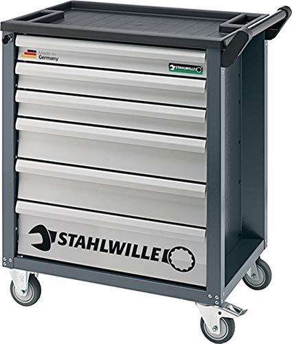 STAHLWILLE Werkzeugwagen 90/6A, B780xT499xH912mm, 300 kg 6 Schubladen