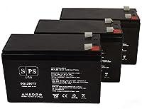 PCM PowerCom VGD-1500 12V 9Ah UPS 交換用バッテリー (3個パック)