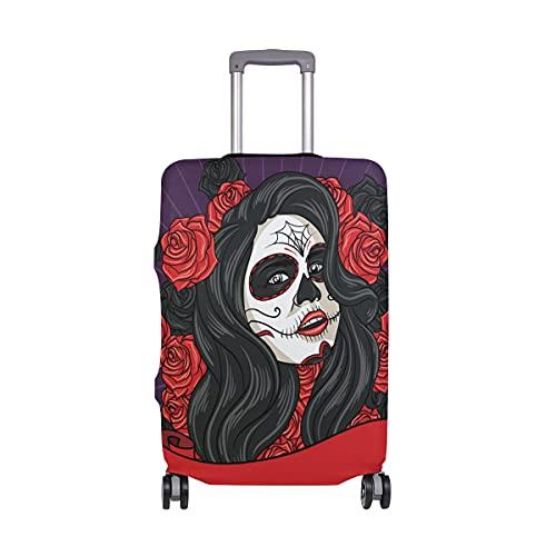 Ajinga Sunshine Girl Puppy Dogs Travel Luggage Protector valigia copertura S 45,7-50,8 cm, Multi1., L 26-28 in,