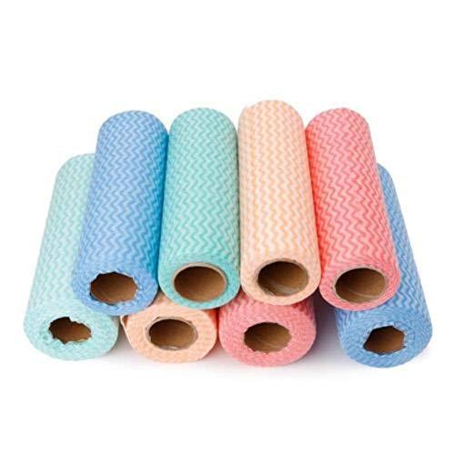 Rollo de tela de limpieza de cocina no tejida trapos desechables que limpia la almohadilla de fregado paño de baño paño de lavado herramientas de cocina, color aleatorio