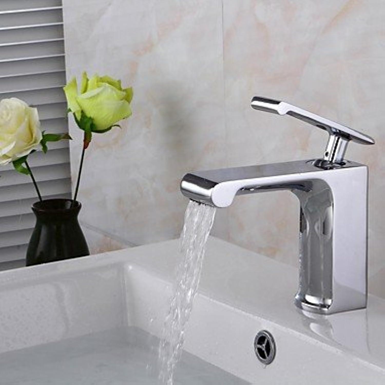 Mangeoo Bathroom Sink Faucet - Waterfall Widespread Chrome Centerset Single Handle One Holebath Taps