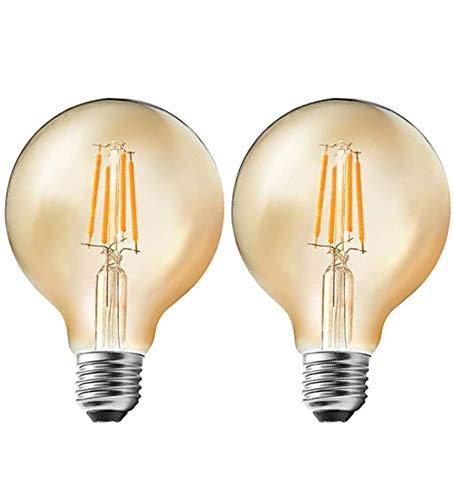 Bombilla Edison Vintage 4W, E27 Antigua Lámpara Cálido 2200K LED Retro Decorativa...
