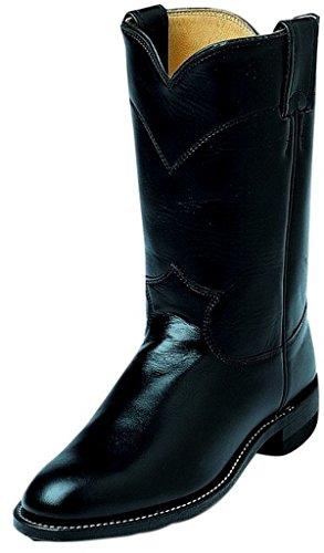 Justin Ladies Roper 10in Black Kipskin Boots 8