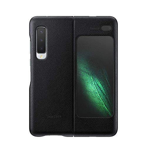 Galaxy Fold Leather Cover ブラック【Galaxy純正 国内正規品】EF-VF900LBEGJP