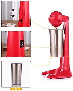 Electric Milk Shaker Machine Milkshake Mixer Milk Frother Coffee Foamer Milk Tea Mixer With 2 speed Adjustable and 17 oz Stainless Steel Mixer Cup