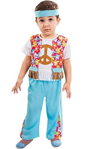 Disfraz de Hippie con Flores para bebé