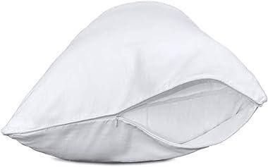"Precoco Body Pillow Pillowcase, 100% Cotton White Body Pillow Cover with Double Zipper, 20"" x 54"" Super Soft 600 Thre"