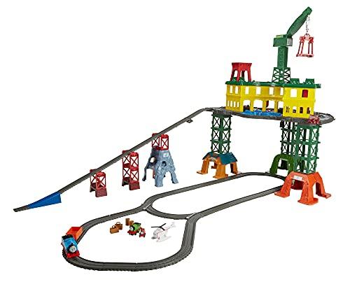 Thomas & Friends- Thomas Super Station Mega Stazione con 3 Livelli di Gioco e più di 10 Metri di Pista, Riconfigurabile, FGR22