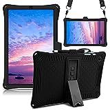 KATUMO Funda de Silicona para Samsung Galaxy Tab S6 Lite 2020 Release SM-P610 / P615 [S Pen, Correa para el Hombro ], protección Funda para Galaxy S6 Lite de 10,4 Pulgadas ,Negro