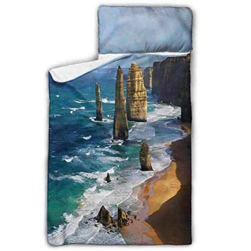 Ahuimin Toddler Nap Mat, Coastal,Panoramic Australia Scenery, 43