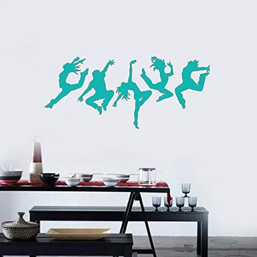 Tänzer Vinyl Wandtattoo Silhouette Tanzen Wandaufkleber Menschen Dance Art Aufkleber Wandbild Für...