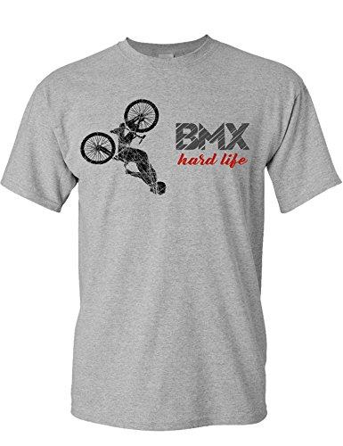 T-Shirt: BMX Hard Life - Fahrrad Geschenke für Damen & Herren - Radfahrer - Mountain-Bike - MTB - BMX - Biker - Rennrad - Tour - Outdoor - Downhill - Dirt - Freeride - Trail - Cross (M)