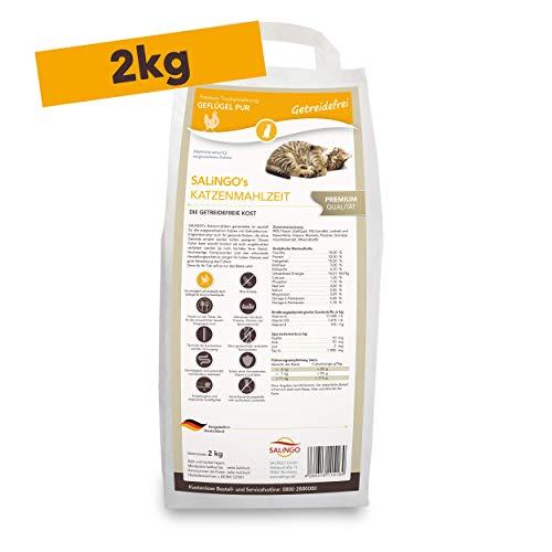 SALiNGO Katzenfutter mit Geflügel I Katzen Trockenfutter getreidefrei I hochwertiges Protein und Taurin hoher Fleischanteil I Katzennahrung ohne Zucker Alleinfuttermittel