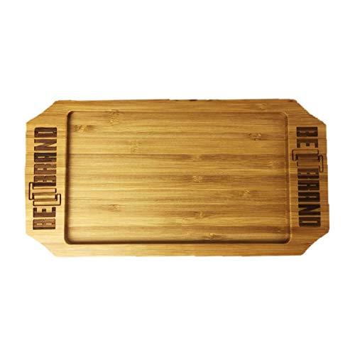 Be Lit Rolling Tray | Bamboo Rolling Tray | Travel Size 9 x 5 Inches | Great for Home, on The Go, Quick Sesh & More | Rugged, Lightweight, & Portable Convenience |