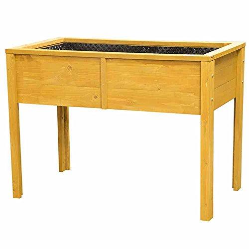 Siena Garden Hochbeet, Beet mit Beinen, Pflanzkasten, Frühbeet, 110x60x80 cm, Fichtenholz, braun, Artikel 437121