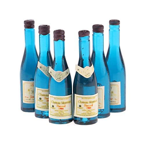lahomia 1/12 Casa de Muñecas Bebida en Miniatura Botellas de Cerveza Cocina