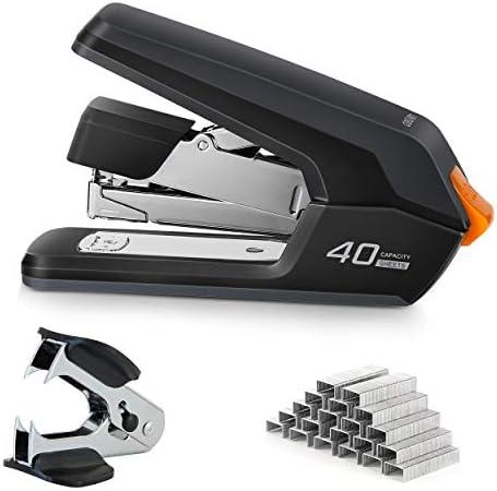 Deli Effortless Desktop Stapler 40 50 Sheet Capacity One Finger Touch Stapling Easy to Load product image
