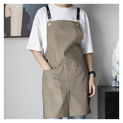 Xunsdzsw Apron Polyester Cotton Apron Florist Gardener Craft Cooking Work Wear Cafe Barista (Color : 25, Size : L Waterproof)
