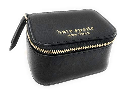 Kate Spade New York Jewelry Holder Travel Box Black Leather